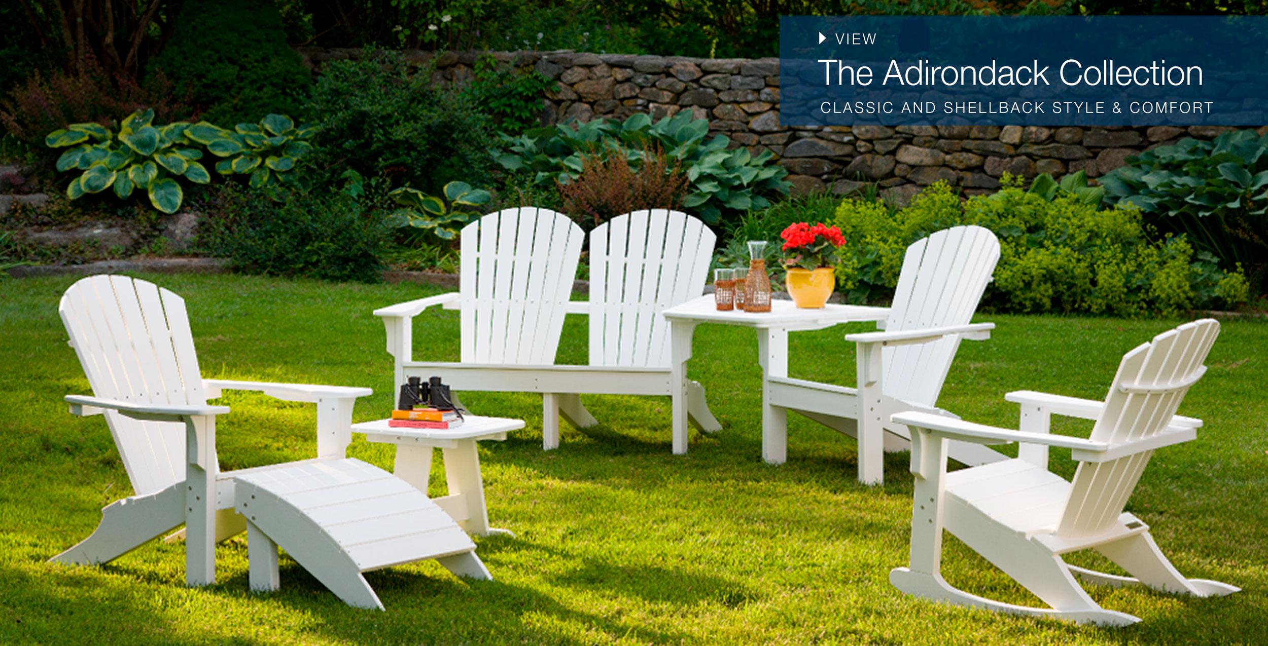 folding lawn chairs ontario fabric oak dining welcome seaside casual furniture adirondack classic collectio