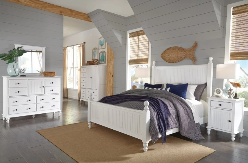 modern beach themed room