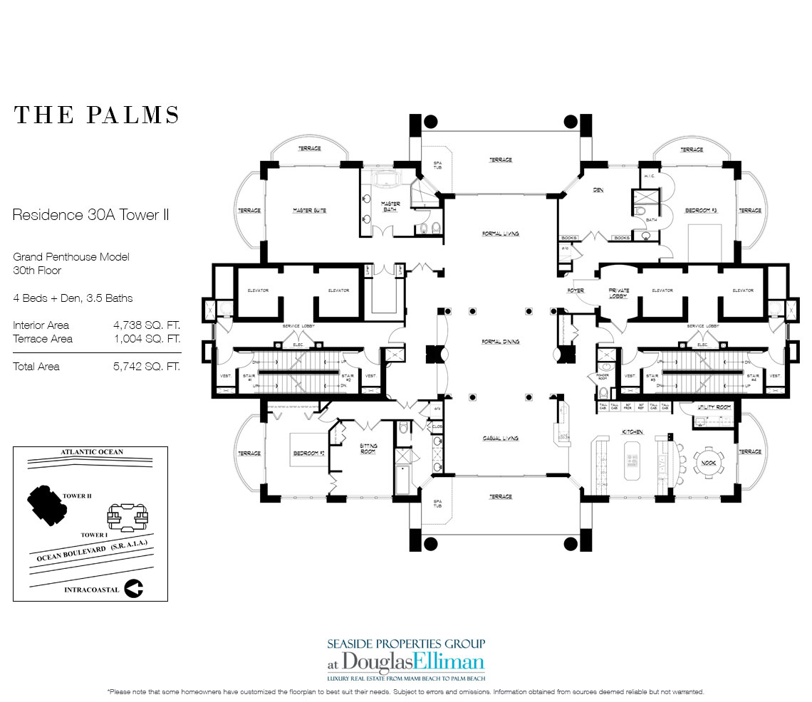 Grand Penthouse 30A, Tower II For Sale at The Palms