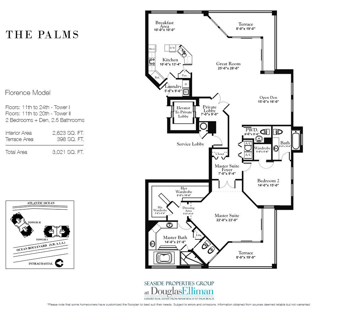 The Palms Floor Plans, Luxury Oceanfront Condos in Fort