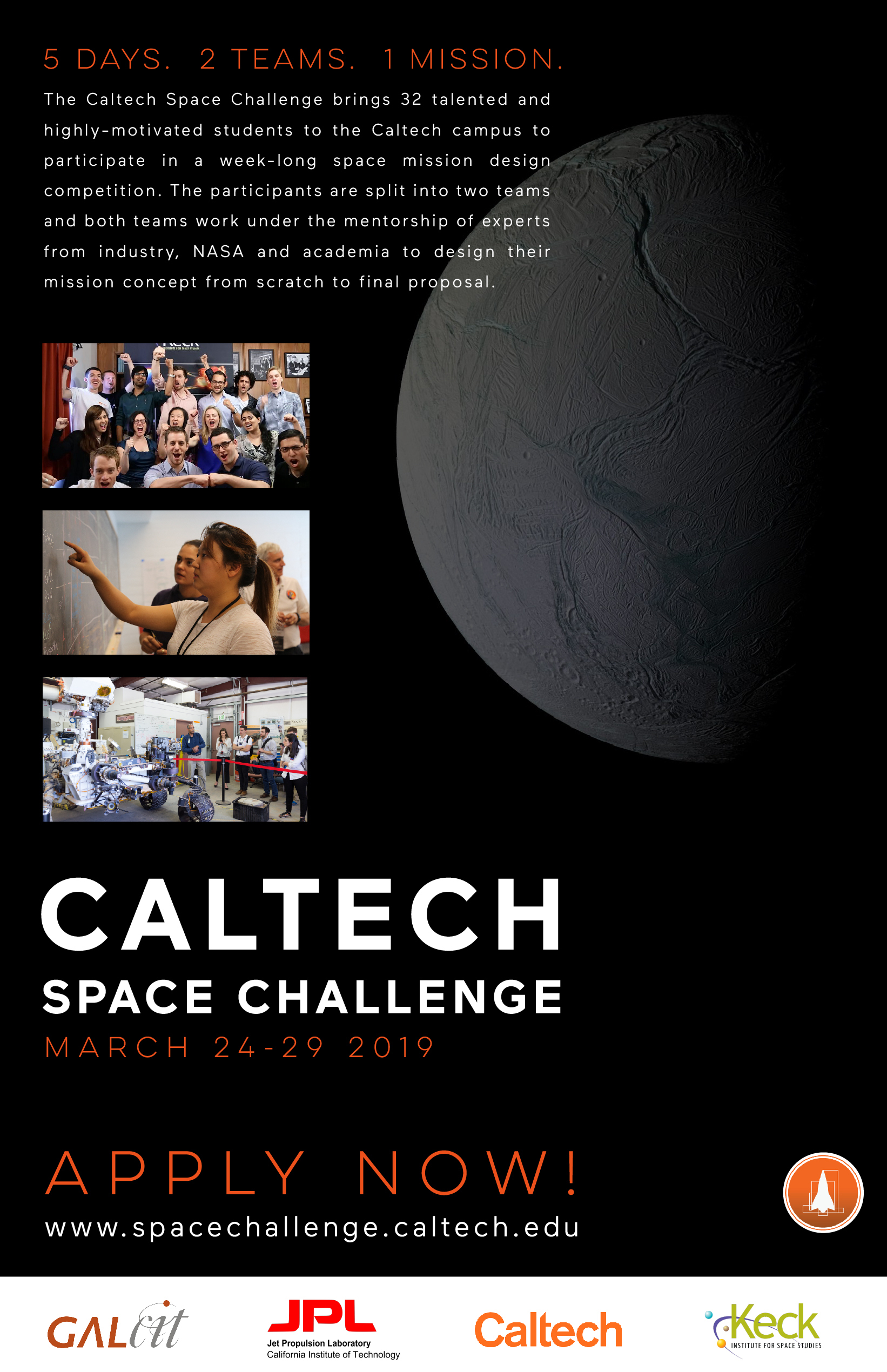 hight resolution of competition encelanders caltech space challenge 2019