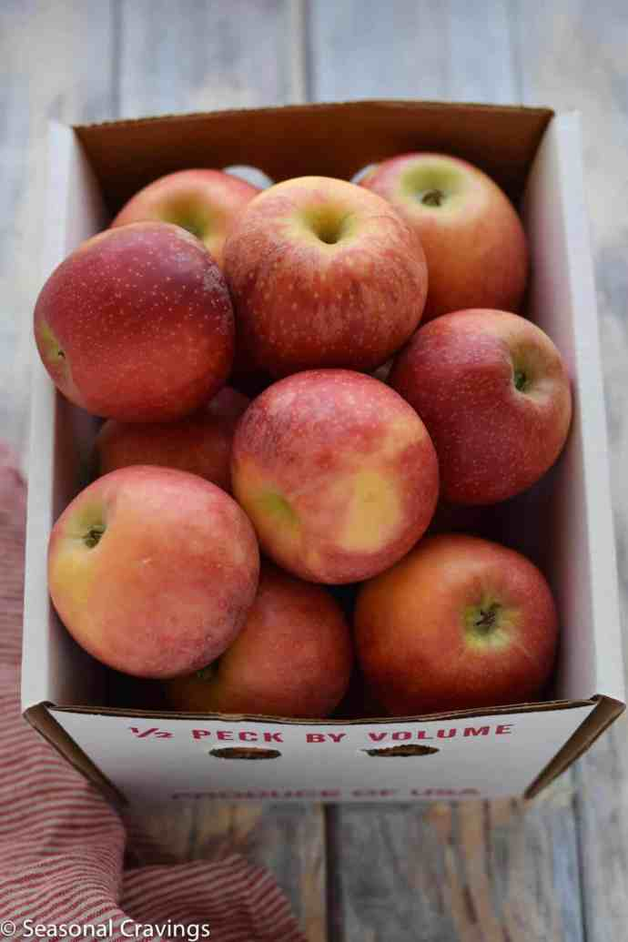 Apple Pie Overnight Oats box of red apples