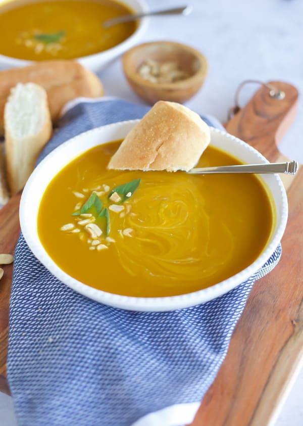 instant pot pumpkin curry soup