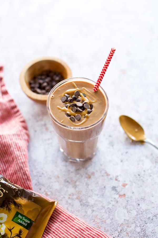 chocolate smoothie with almond butter