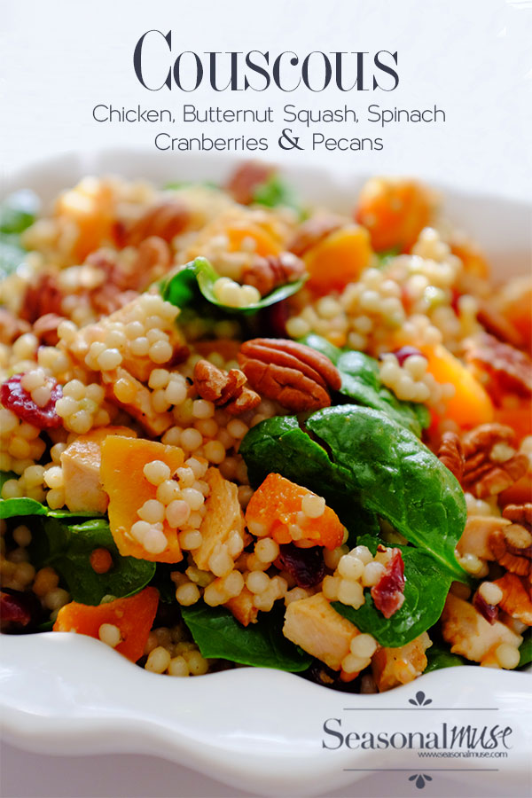 couscous, chicken, butternut squash, cranberries & Pecans Salad Recipe