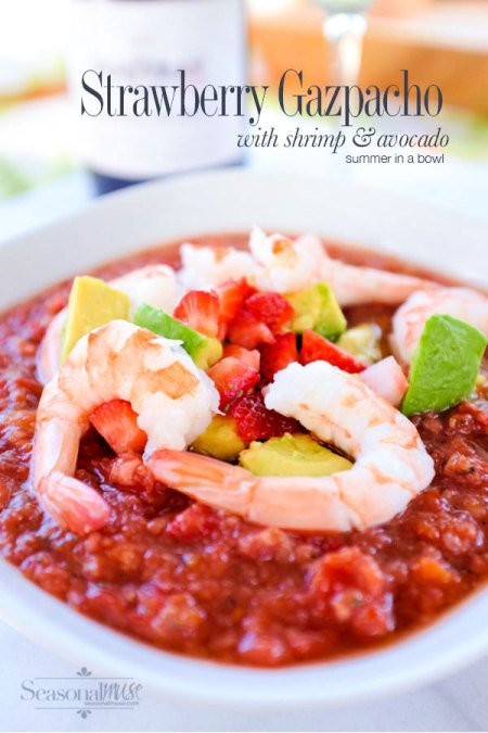 Chilled Strawberry Gazpacho