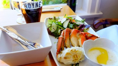 A gourmet lunch - Fresh caught Dungeness crab is always a delicious option in the Pacific Northwest.