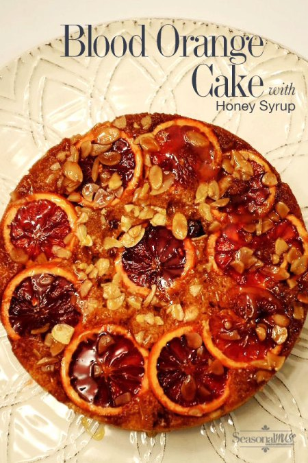 Blood Orange Cake with Honey Syrup