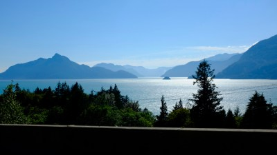 Driving back to Vancouver on the Sea to Sky highway - breathtaking beauty around every bend.