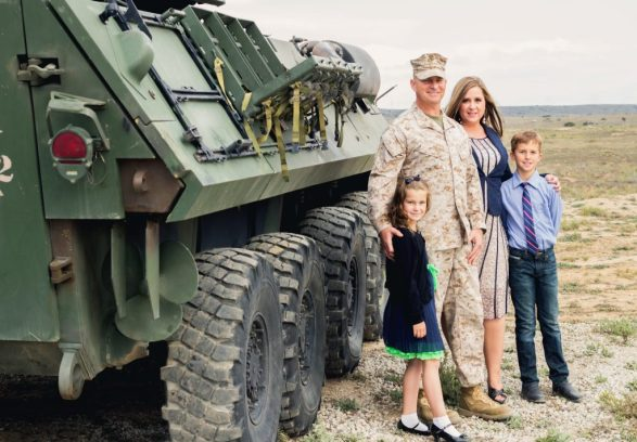 The Schellhaas family describes their military life experience in the book '15 Years of War'