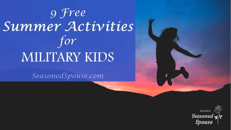 These free summer activities for military kids will keep them busy!