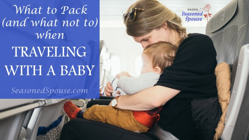 What to pack when you travel solo with babies or young children
