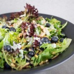 Blueberry Kamut Salad | This light and hearty blueberry kamut salad is full of fresh flavor! Paired with a mint yogurt dressing, it's the perfect summertime lunch or side dish. | SeasonedVegetable.com