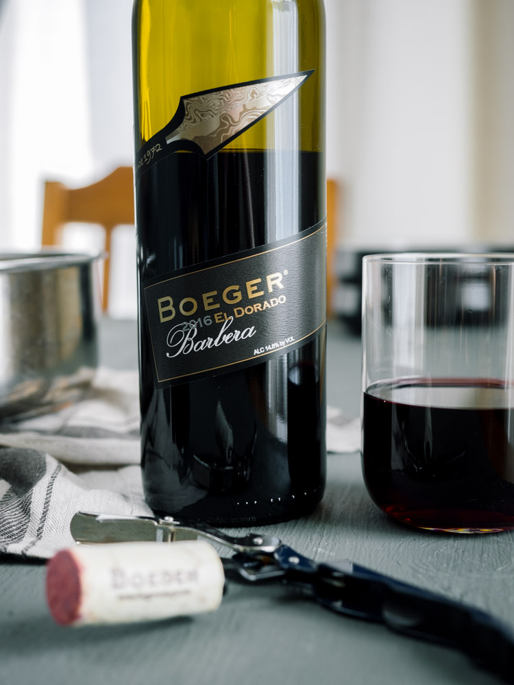 Boeger 2016 Barbera paired with Chickpea Chard Potato Stew