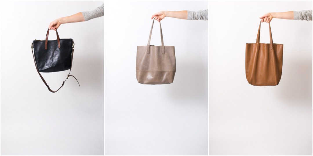 f70d2a32a001 Leather Tote Review  Madewell vs. Fashionable vs. Cuyana - Seasons + ...
