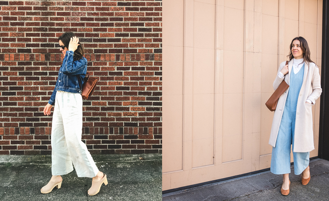 What I Wore: Wide Leg Style + A Touch of Spring