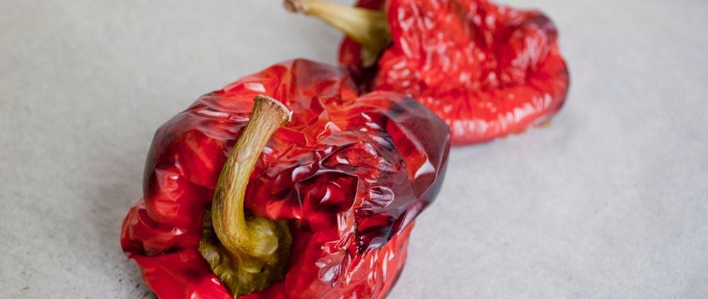 geroosterde paprika