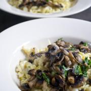 blauwe kaas pasta witlof