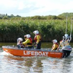 Semi flat Lifeboat by Seatstrike Boats