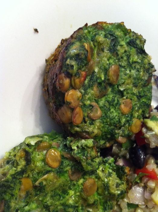 Lentil Spinach Cups