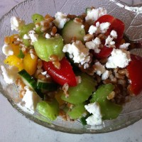 Vegetable Wheat Berry Salad