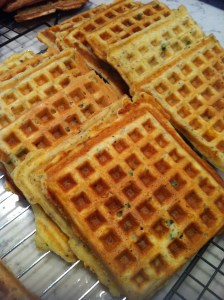 Cheddar Scallion Waffles (A Seat at the Table)