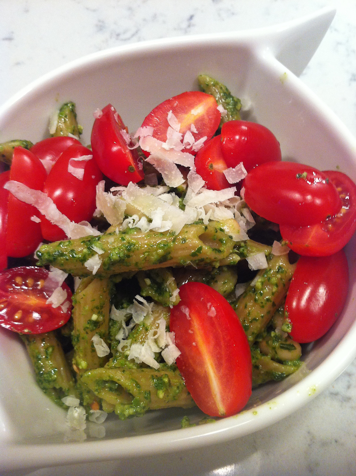 Kale and Basil Pesto Pasta (A Seat at the Table)