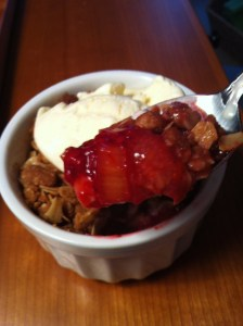 Rhubarb Berry Crisp a la Mode (A Seat at the Table)