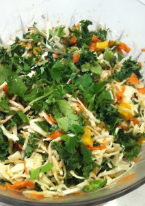 Asian Cabbage and Kale Slaw (A Seat at the Table)