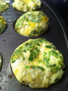 Goat Cheese and Chive Mini Egg Frittatas (A Seat at the Table)