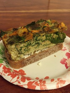 Frittata and Goat Cheese Sandwich (A Seat at the Table)