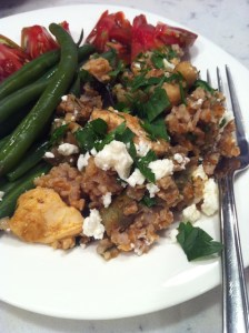 Spiced Eggplant, Chickpea, and Bulgur Salad (A Seat at the Table)