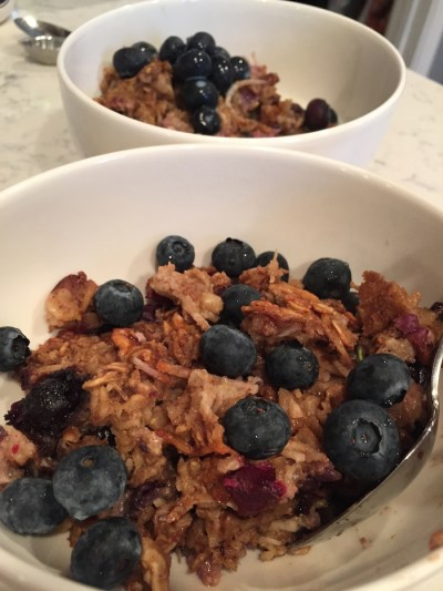Blueberry and Coconut Baked Oatmeal (A Seat at the Table)