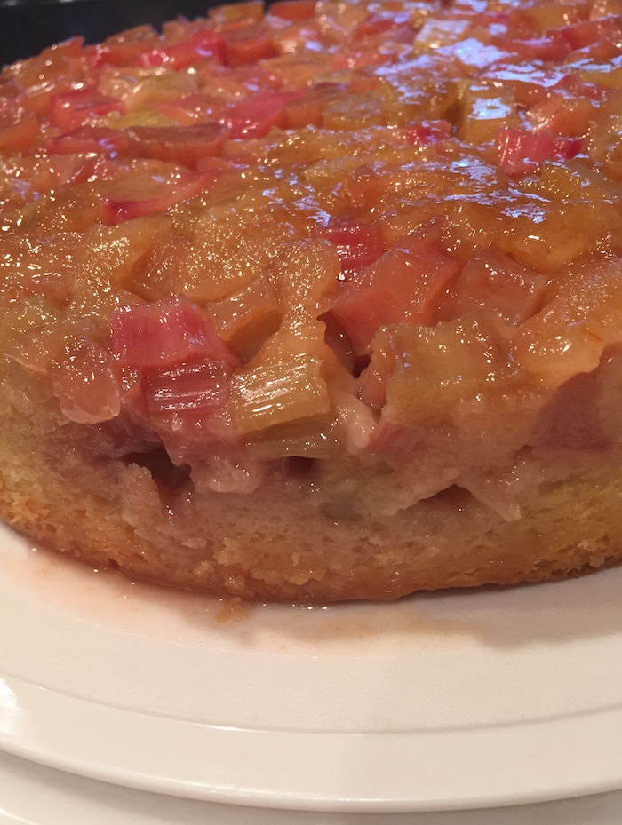 Rhubarb Upside Down Cake (A Seat at the Table)