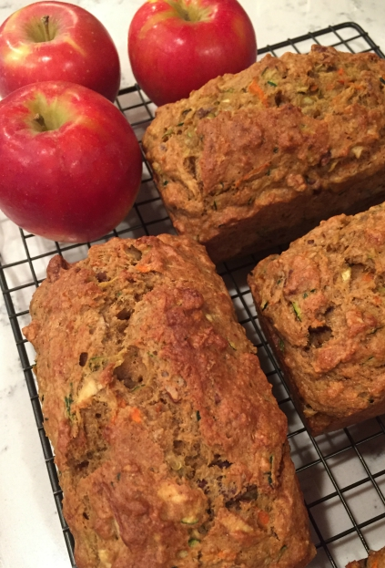 Zucchini, Carrot, Apple Bread (A Seat at the Table)