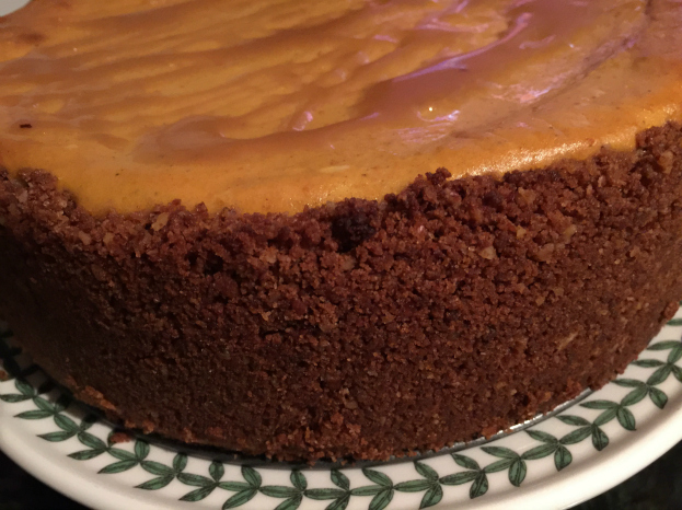 Pumpkin Cheesecake with Ginger Cookie Crust (A Seat at the Table)