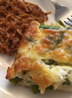 Asparagus Cheese Egg Puff (A Seat at the Table)