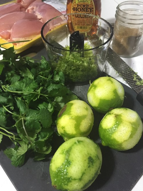 Cilantro Lime Chicken prep (A Seat at the Table)