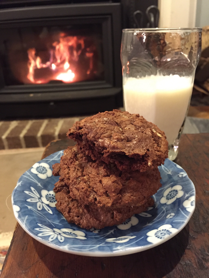 Chocolate Toffee Cookies with Pecans (A Seat at the Table)