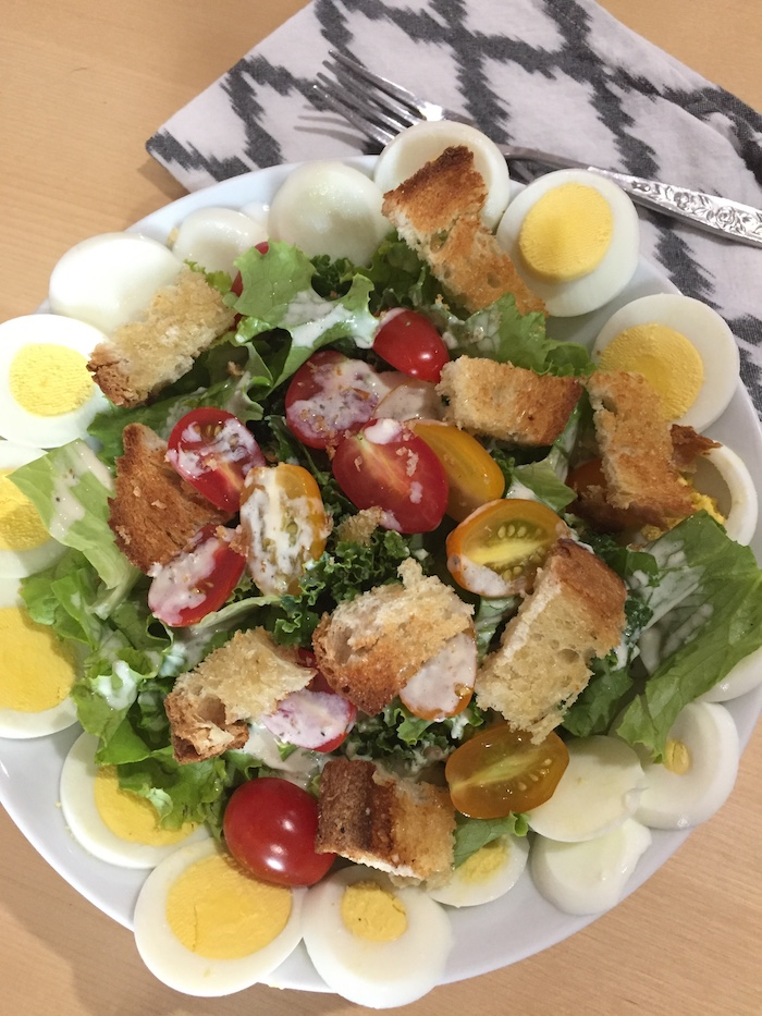 Kale Caesar Salad (A Seat at the Table)