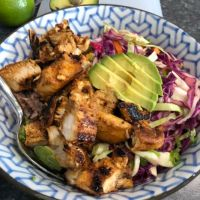 Adobo Chicken Taco Bowls