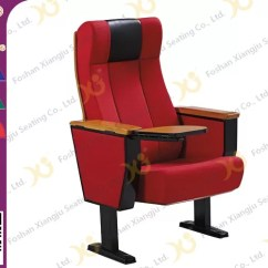 Commercial Seating Chairs Rattan Dining Floor Mounted Leg Theater With Wood Armrest Plywood Shell