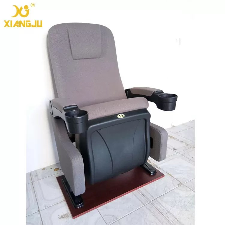 theater chairs with cup holders wooden rocking chair for nursery ergonomic backrest fabric pp cinema holder china supplier