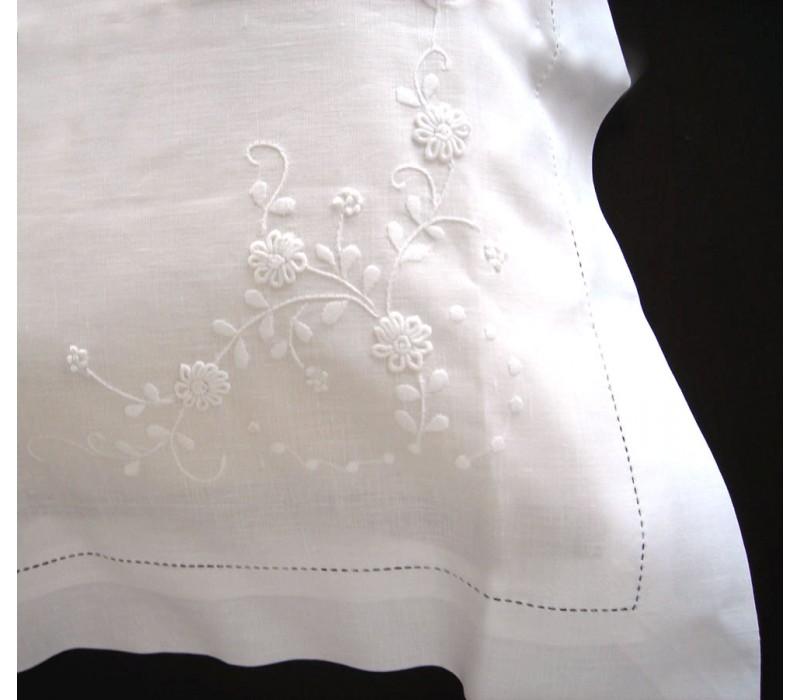 Daisy Embroidered Linen Pillowcase