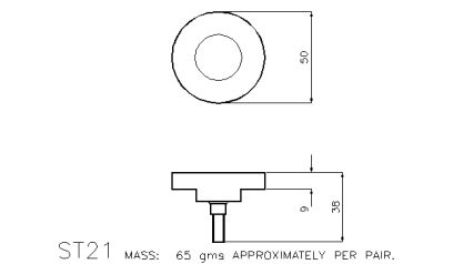 Compression: ST21 50mm Compression Platen with Universal Joint
