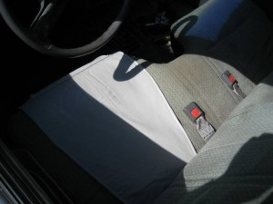 Gun holster bench seat automobile