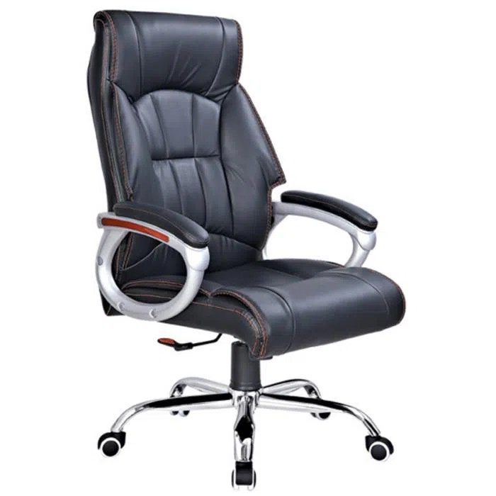 folding executive chair office armrest cushion swivel leather with adjuster high back gas cylinder mash home application recliner rotating used for salon meeting room etc description 1