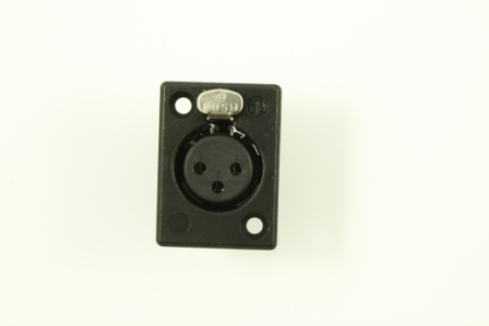 Chassis socket F/ Gooseneck, XLR, NC3FP-BAG-1