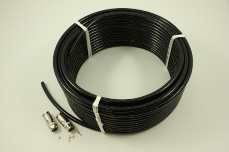 Coax 30M EcoFlex10 Cable, Double screened N,N