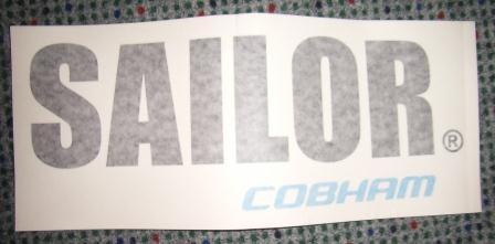 Label for SAILOR 500, SAILOR-Cobham Logo